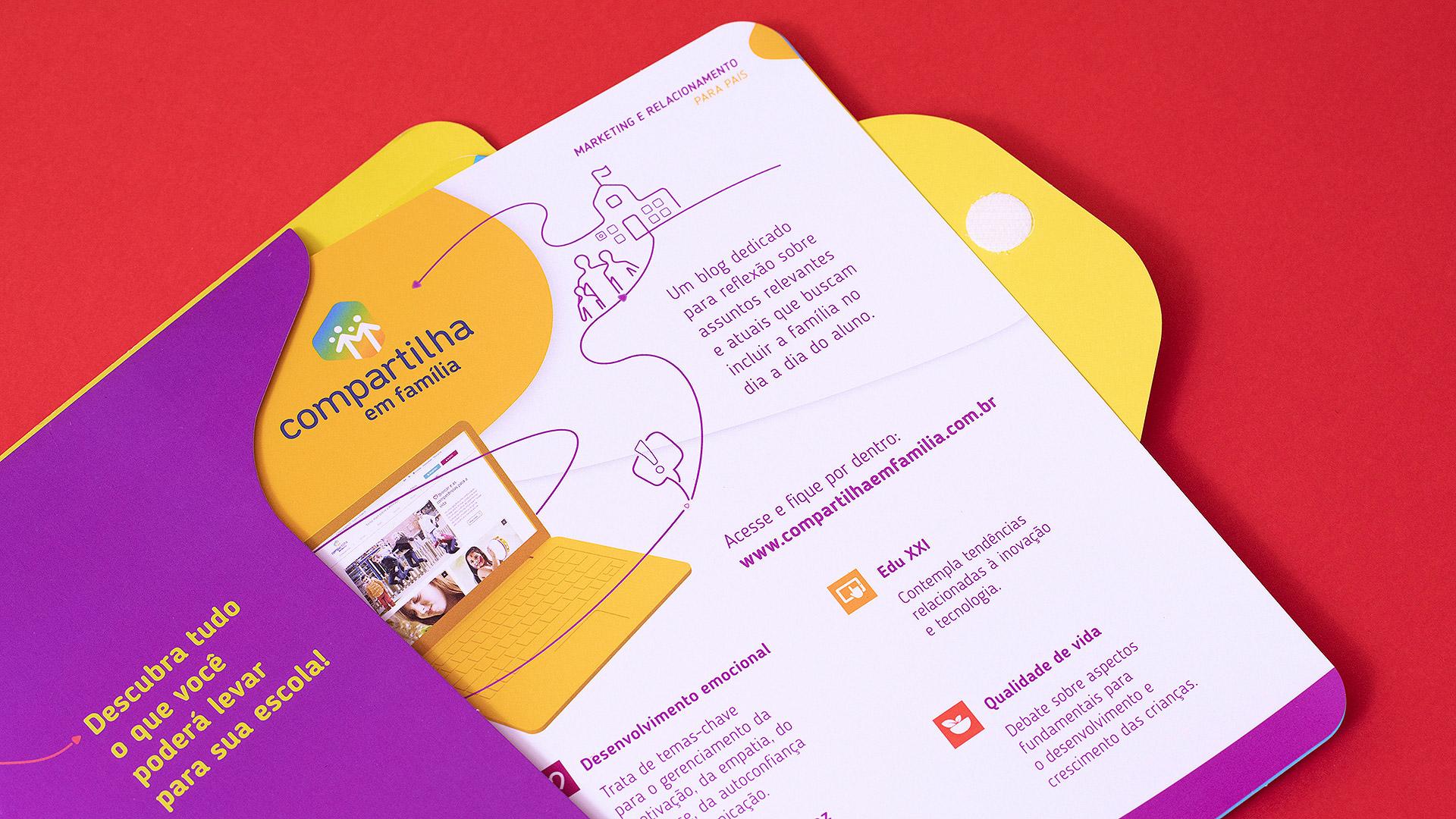 Pasta com bolsa do Catálogo Moderna Compartilha