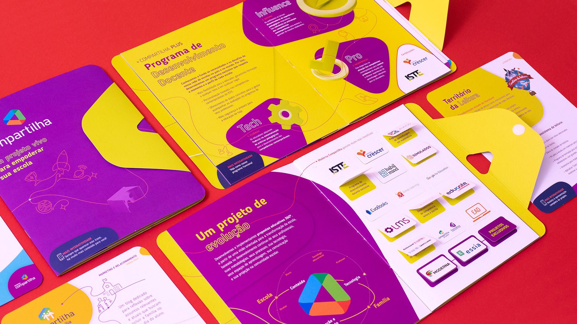 Páginas internas do Catálogo Moderna Compartilha